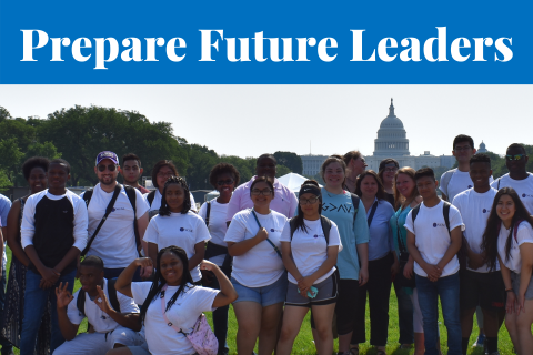 Prepare Future Leaders - group of students in Washington, DC
