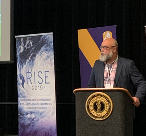 Cecilio Ortiz García, NCSE Senior Fellow, RISE, speaking at the RISE 2019 Conference.