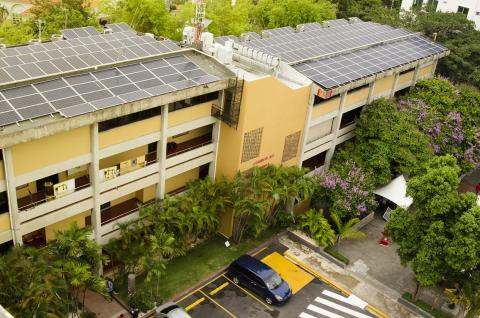 solar panels at intec