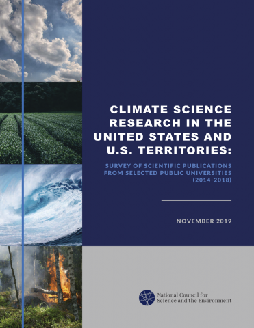 report cover for the report Climate Science Research in the United States and U.S. Territories