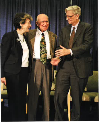 Rita Colwell and E.O. Wilson